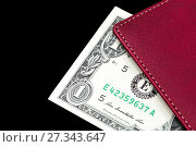 Купить «Notebook with dollars on a black background», фото № 27343647, снято 12 апреля 2015 г. (c) Евгений Ткачёв / Фотобанк Лори