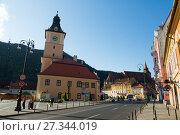 Купить «Brasov Council House», фото № 27344019, снято 18 сентября 2017 г. (c) Яков Филимонов / Фотобанк Лори
