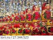 Купить «Moscow, Russia. 2nd Jan, 2018. New Year's Moscow, Russia», фото № 27344523, снято 2 января 2018 г. (c) Николай Винокуров / Фотобанк Лори