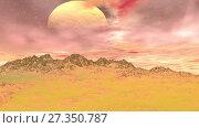 Купить «Alien Planet. Mountain. Animation. 4K», видеоролик № 27350787, снято 5 января 2018 г. (c) Parmenov Pavel / Фотобанк Лори