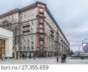 Купить «Гастроном на Соколе», эксклюзивное фото № 27355659, снято 4 января 2018 г. (c) Виктор Тараканов / Фотобанк Лори