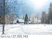 Winter small village in Alps. Стоковое фото, фотограф Anton Chechotkin / Фотобанк Лори
