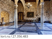 Купить «Interior of the Palace of the Grand Master of the Knights of Rhodes», фото № 27356483, снято 9 октября 2017 г. (c) Stockphoto / Фотобанк Лори
