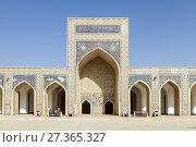 The Inner Courtyard Of The Kalyan Mosque, Bukhara, Uzbekistan. Стоковое фото, фотограф Grant Rooney / age Fotostock / Фотобанк Лори
