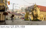 Bratislava streets is colorul landmark in center of city (2017 год). Стоковое фото, фотограф Яков Филимонов / Фотобанк Лори