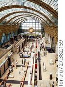 Купить «Интерьер Musee d'Orsay, Париж, Франция», фото № 27382159, снято 10 мая 2017 г. (c) Николай Коржов / Фотобанк Лори