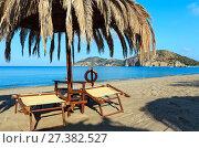 Купить «Tyrrhenian sea beach, Campania, Italy», фото № 27382527, снято 21 июня 2017 г. (c) Юрий Брыкайло / Фотобанк Лори