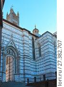 Купить «Siena Cathedral bell tower, Tuscany, Italy», фото № 27382707, снято 23 июня 2017 г. (c) Юрий Брыкайло / Фотобанк Лори