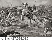 The Battle of the Catalaunian Plains (or Fields) aka the Battle of the Campus Mauriacus, Battle of Châlons or the Battle of Maurica, June 20, 451 AD, between... Стоковое фото, фотограф Ken Welsh / age Fotostock / Фотобанк Лори