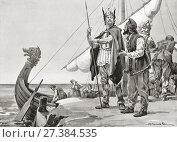 Купить «Rurik or Riurik, c. 830 - 879. Varangian chieftain of the Rus', founder of the Rurik dynasty or Rurikids, who in the year 862 gained control of Ladoga...», фото № 27384535, снято 19 августа 2018 г. (c) age Fotostock / Фотобанк Лори