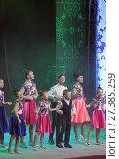 Балашиха, выступление детей на губернаторской ёлке 2018. Редакционное фото, фотограф Дмитрий Неумоин / Фотобанк Лори