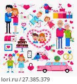 Valentine s day flat. Стоковая иллюстрация, иллюстратор Liliya Mekhonoshina / Фотобанк Лори