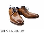 Купить «Pair of elegant men's leather shoes», фото № 27386119, снято 11 марта 2017 г. (c) Евгений Ткачёв / Фотобанк Лори
