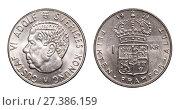 Купить «One swedish krone 1971 year», фото № 27386159, снято 29 марта 2017 г. (c) Евгений Ткачёв / Фотобанк Лори