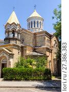 Armenian Apostolic Church Surb Christ Amenaprkich (Saint Saviour) in Batumi. Стоковое фото, фотограф Евгений Ткачёв / Фотобанк Лори