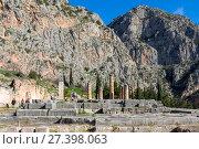 Купить «Храм Аполлона, Дельфы, Греция», фото № 27398063, снято 2 января 2018 г. (c) Ирина Яровая / Фотобанк Лори