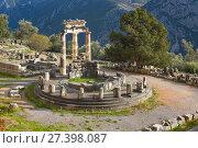 Купить «Храм Афины Пронайи, Дельфы, Греция», фото № 27398087, снято 2 января 2018 г. (c) Ирина Яровая / Фотобанк Лори