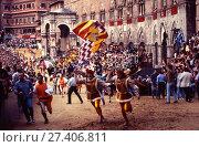 People, folk festivals, rites, 2008, Siena, Italy. (2017 год). Редакционное фото, фотограф Lamberto Scipioni / age Fotostock / Фотобанк Лори