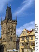 Купить «Charles bridge tower, Prague», фото № 27410327, снято 4 октября 2015 г. (c) Boris Breytman / Фотобанк Лори