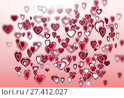 Купить «Layered Valentines hearts», фото № 27412027, снято 19 октября 2018 г. (c) Wavebreak Media / Фотобанк Лори