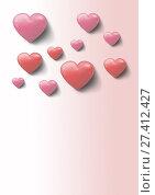 Купить «Valentines day design with hearts», фото № 27412427, снято 19 октября 2018 г. (c) Wavebreak Media / Фотобанк Лори