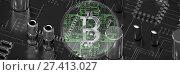 Купить «Composite image of bitcoin», фото № 27413027, снято 16 января 2019 г. (c) Wavebreak Media / Фотобанк Лори