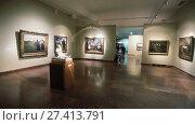 Купить «Exposition in the Hungarian National Gallery (MNG), in the Buda Fortress. Budapest, Hungary», видеоролик № 27413791, снято 29 октября 2017 г. (c) Яков Филимонов / Фотобанк Лори