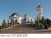 Купить «Свято-Георгиевский женский монастырь, город Ессентуки», эксклюзивное фото № 27426235, снято 7 января 2018 г. (c) Svet / Фотобанк Лори