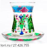 Купить «Turkish tea glass isolated on white background», фото № 27426755, снято 27 декабря 2015 г. (c) Евгений Ткачёв / Фотобанк Лори