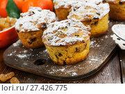 Купить «Мандариновые кексы», фото № 27426775, снято 7 января 2018 г. (c) Надежда Мишкова / Фотобанк Лори