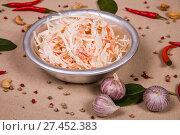 Купить «Salad of squids», фото № 27452383, снято 16 января 2018 г. (c) Art Konovalov / Фотобанк Лори