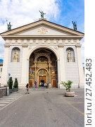 Купить «Italy, Aosta Valley, Aosta, the cathedral», фото № 27452483, снято 15 августа 2017 г. (c) age Fotostock / Фотобанк Лори