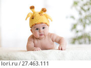 Купить «baby child in costume of giraffe», фото № 27463111, снято 7 декабря 2019 г. (c) Оксана Кузьмина / Фотобанк Лори
