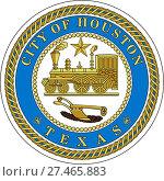 Купить «Герб города Хьюстон. Америка», иллюстрация № 27465883 (c) Владимир Макеев / Фотобанк Лори