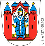 Купить «Герб города Ашаффенбург. Германия», иллюстрация № 27468103 (c) Владимир Макеев / Фотобанк Лори