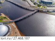 Купить «Яхтенный мост через Большую Невку, Санкт-Петербург», фото № 27468187, снято 11 сентября 2017 г. (c) Геннадий Соловьев / Фотобанк Лори
