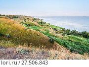 Купить «Берег Таганрогского залива в Ростовской области», фото № 27506843, снято 16 июля 2015 г. (c) Алёшина Оксана / Фотобанк Лори