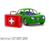 Купить «Car service on white background. Isolated 3D illustration», иллюстрация № 27507203 (c) Ильин Сергей / Фотобанк Лори