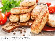 Купить «Куриные крокеты. Домашняя кухня», фото № 27507235, снято 22 сентября 2017 г. (c) Надежда Мишкова / Фотобанк Лори