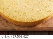 Купить «sponge cake on old wooden table», фото № 27508627, снято 22 января 2018 г. (c) Майя Крученкова / Фотобанк Лори