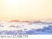 Купить «The frozen sea, ice hummocks in the rays of the winter bright sun as a background or a backdrop», фото № 27508719, снято 25 января 2018 г. (c) Олег Белов / Фотобанк Лори