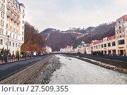 Купить «Роза Хутор», фото № 27509355, снято 6 января 2018 г. (c) Кристина Викулова / Фотобанк Лори