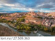 Купить «Panorama of Toledo, Castilla La Mancha, Spain», фото № 27509363, снято 28 марта 2020 г. (c) Коваленкова Ольга / Фотобанк Лори