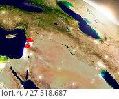 Купить «Lebanon with flag in rising sun», фото № 27518687, снято 22 июля 2019 г. (c) easy Fotostock / Фотобанк Лори