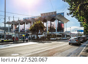 Купить «Автовокзал в Сочи», фото № 27520067, снято 20 января 2018 г. (c) Baturina Yuliya / Фотобанк Лори