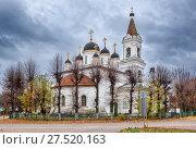 Купить «Троицкая церковь в Твери. The white-stone Trinity Church in Tver», фото № 27520163, снято 22 октября 2017 г. (c) Baturina Yuliya / Фотобанк Лори
