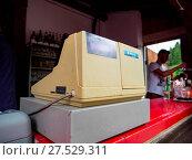 Купить «Sanyo Chekcout Counter», фото № 27529311, снято 20 сентября 2018 г. (c) age Fotostock / Фотобанк Лори