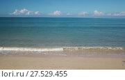 Купить «Aerial of beauty deserted beach and calm sea», видеоролик № 27529455, снято 19 января 2018 г. (c) Михаил Коханчиков / Фотобанк Лори