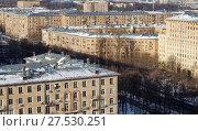 Вид на жилые дома Гагаринского района Юго-Западного административного округа. Москва, Россия (2018 год). Стоковое фото, фотограф Bala-Kate / Фотобанк Лори