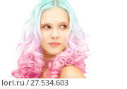 Купить «teen girl with trendy colorful gradient dyed hair», фото № 27534603, снято 2 октября 2011 г. (c) Syda Productions / Фотобанк Лори